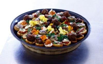 Catering 180 degrees catering confectionery for Canape platters