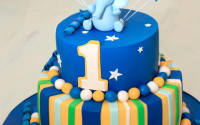 Baby Blue Elephant Cake