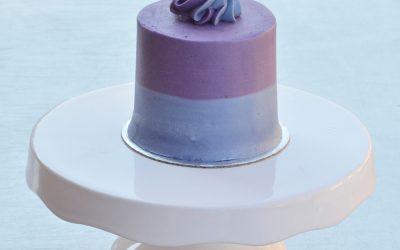 Mini Blueberry Velvet Cake